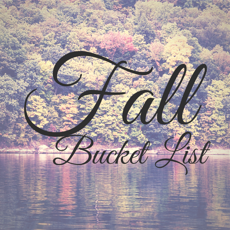 The Insurance Nerd's fall bucket list