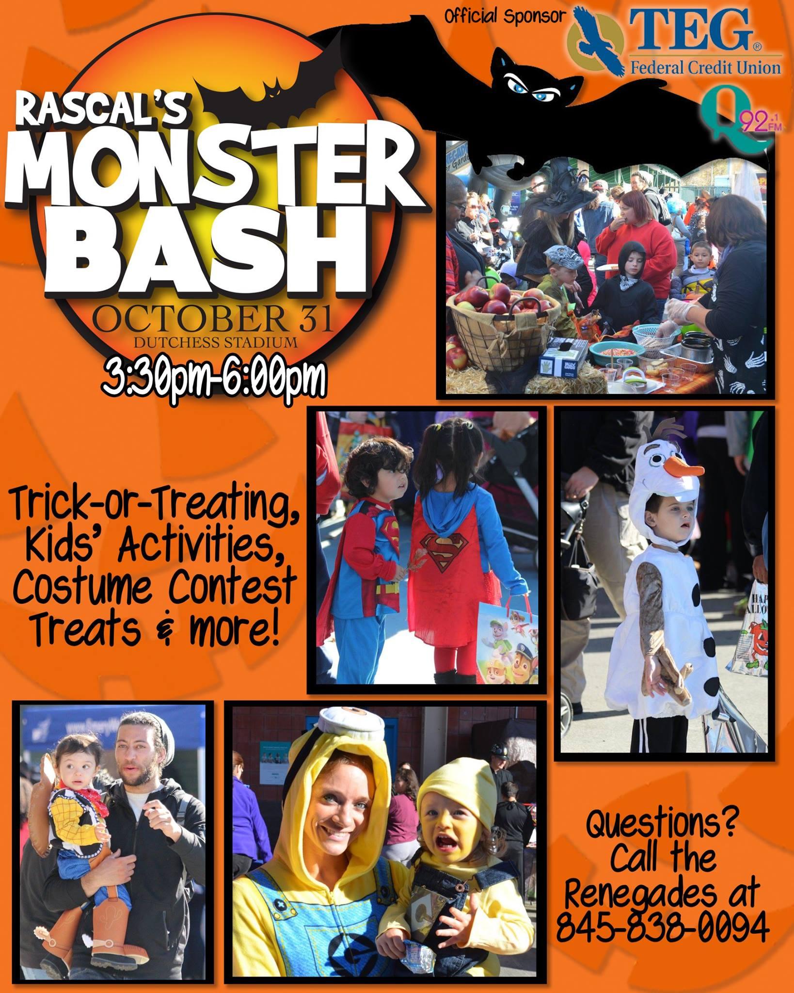 Rascal's Monster Bash on October 31, 2016 at Dutchess Stadium