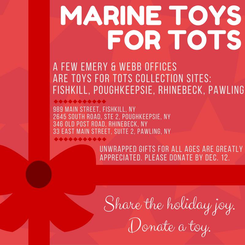 A few Emery & Webb offices are Toys for Tots Collection Sites